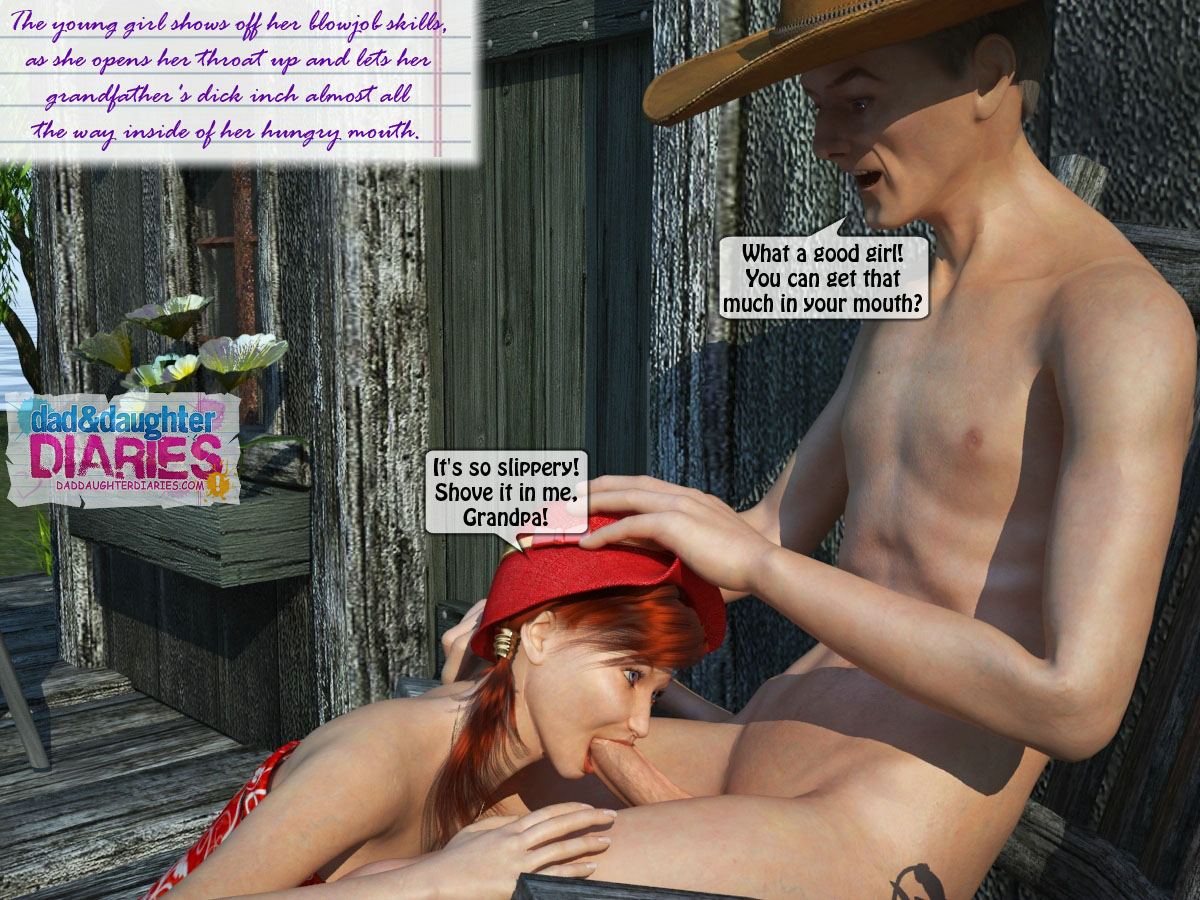 Dad Daughter Diaries  Flowers  Free 3D Family Incest -2989