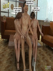 Dad fucks his daughters in threesome 3D family incest porn comics
