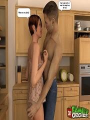 3DFamilyOrgies – Tight Daughter Nailed by Father | 3D Porn Comics