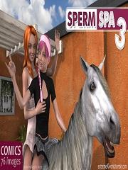 ExtremeXWorld – Sperm Spa 3   Free 3D Animal Porn Comics