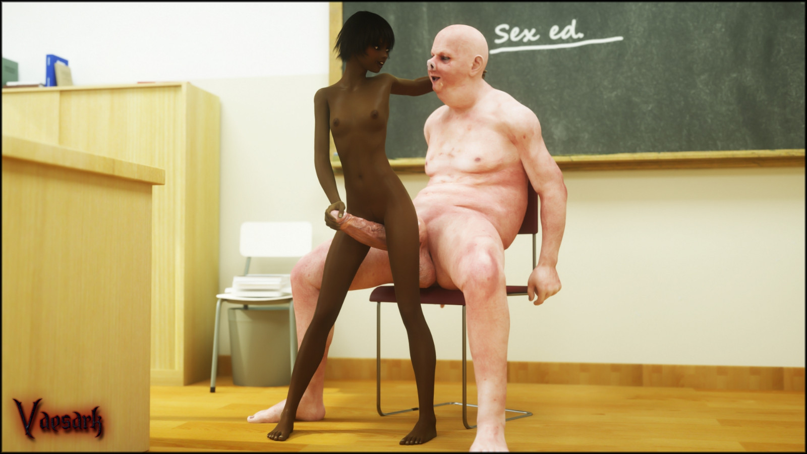 black professor porn