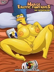Kogeikun – Marge Erotic Fantasies | The Simpsons Parody Porn Comics