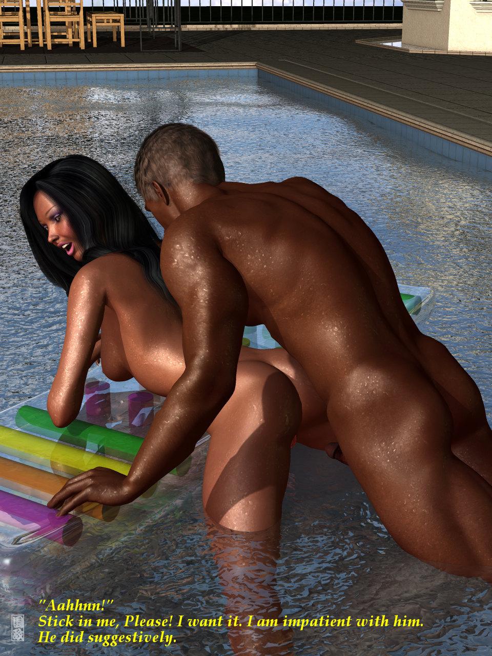 Kunimasa  Pool Girl  Free 3D Interracial Porn Comics Online-7423