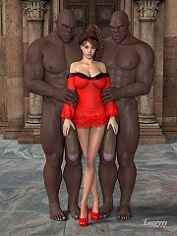 Longyyy – Sarah And The Freaks | Free 3D Interracial Porn Comics