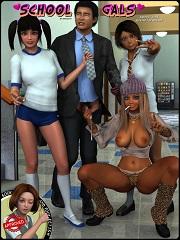 School Gals – Daniel40 | Free 3D Porn Comics Online