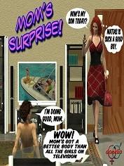 Donelio – Mom's Surprise – Free Porn Comics